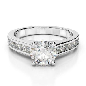 Jewelry - Solitaire with accent prong set 2.75 carats diamon